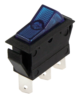 Car Switch, 3-pin<br> 12V / 20A, blue, 2<br>positions:
