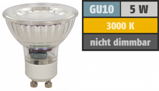 "LED-Strahler McShine ""MCOB"" GU10, 5W, 400 lm, warmweiß"