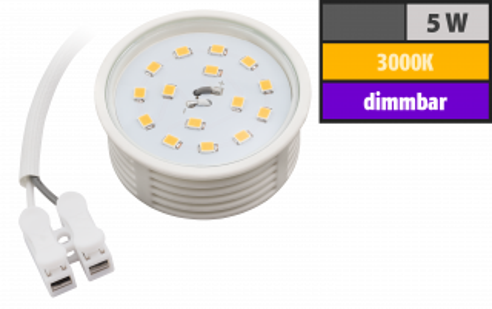LED-Modul McShine, 5W, 400 Lumen, 50x20mm, warmweiß, dimmbar