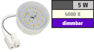 LED-Modul McShine, 5W, 400 Lumen, 50x20mm, neutralweiß, dimmbar