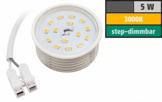 led modul mcshine 5w 400 lumen 230v 50x23mm warmwei 3000k step dimmbar ett der. Black Bedroom Furniture Sets. Home Design Ideas