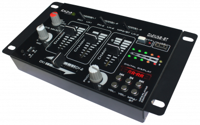 "4-Kanal Mischpult IBIZA ""DJ21USB-BT"" Bluetooth, USB, 7 Eingänge"