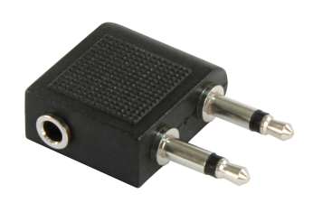 Audio-Adapter, 1x 3,5 mm Stereo (Buchse) -> 2x 3,5 mm Mono (Stecker), Klinke