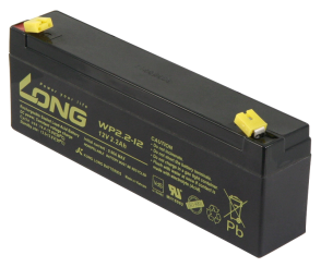 "Bleiakku KUNG LONG ""WP2,2-12"" 12V/2,2Ah, VdS, 178x34x60mm, 1,06kg"