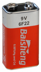 Block-Batterie Super Heavy Duty 9V, Typ 6F22