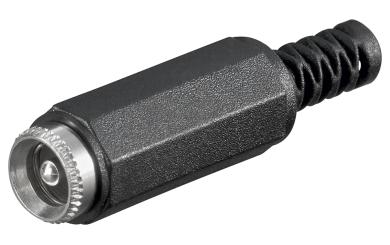 DC-Kupplung mit Knickschutz, Durchmesser 2,5mm