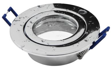 """Einbaurahmen McShine """"DL-54"""" rund, Clip-Verschluss, IP44, Chrom"""