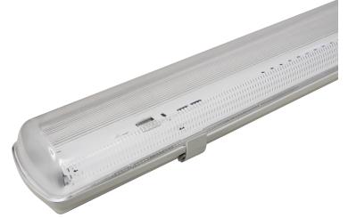 Feuchtraumleuchte 60cm für 2 LED Röhren, IP65
