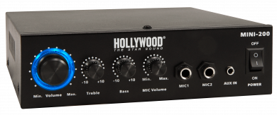 "HiFi-Verstärker HOLLYWOOD ""Mini-200"" 100W, Bluetooth, 1x Line In"