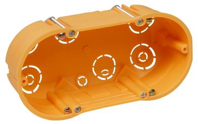 Hohlwanddose McPower, doppelt, 143x48mm, inkl. Geräteschrauben, orange