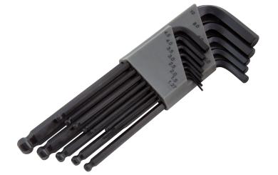 Innensechskant-Schlüssel McPower, 13-teiliges Set mit Kugelkopf und Halter