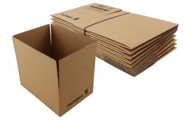 Karton 220x166x65-110mm, braun 10er Pack mit Automatikboden
