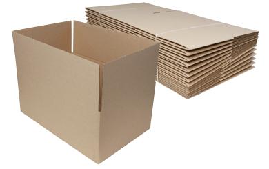 Karton 395x255x165mm, braun 15er Pack mit Automatikboden