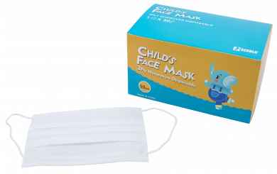 Kinder Mund-Nasen-Maske, 50er-Pack, Nasenbügel, elastischer Gummizug