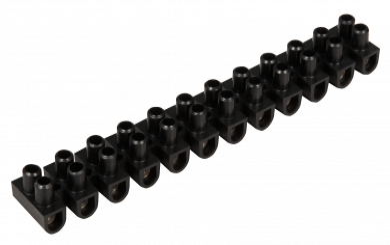 Lüsterklemme McPower, 12 Klemmen, 4,5mm², 5A, schwarz