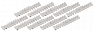Lüsterklemme McPower, 12 Klemmen, 4,5mm², 5A, transparent, 10er-Pack