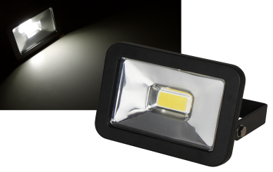 "LED-Außenstrahler McShine ""Slim"" 10W, IP44, 750 lm, 3000K, warmweiß"