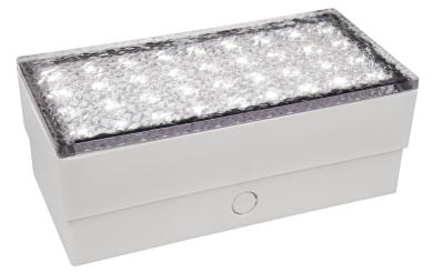 """LED-Bodenleuchte McShine """"Pflasterstein"""" 20x10x7cm, 180lm, IP65, warmweiß, 230V"""