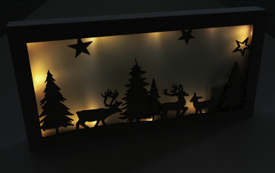 """LED Dekolicht """"Wald"""" aus Holz, 10 LED"""
