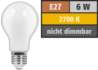 "LED Filament Glühlampe McShine ""Filed"", E27, 6W, 720 lm, warmweiß, matt"