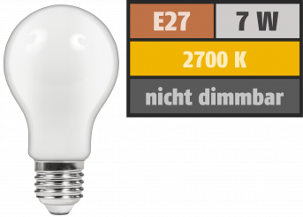 "LED Filament Glühlampe McShine ""Filed"", E27, 7W, 720 lm, warmweiß, matt"