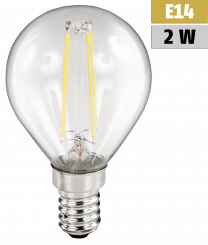 "LED Filament Tropfenlampe McShine ""Filed"", E14, 2W, 200 lm, warmweiß, klar"