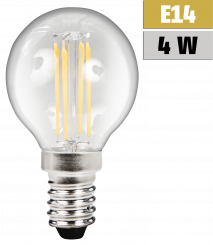 "LED Filament Tropfenlampe McShine ""Filed"", E14, 4W, 470lm, warmweiß"