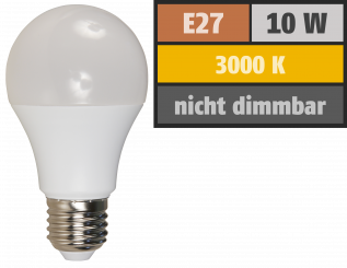 LED Glühlampe McShine, E27, 10W, 810 lm, 3000K, warmweiß