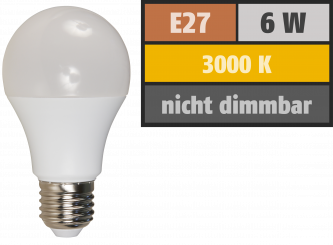 LED Glühlampe McShine, E27, 6W, 480lm, 3000K, warmweiß