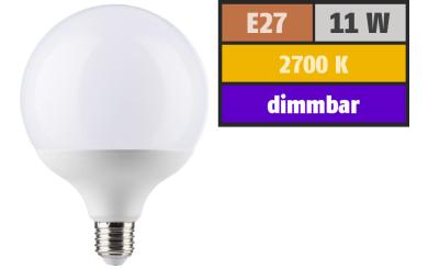 LED Globelampe E27, 11W, 1055lm, 2700K, warmweiß, dimmbar