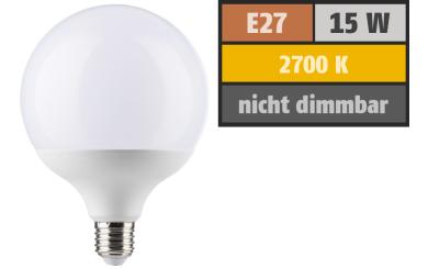 LED Globelampe E27, 15W, 1520lm, 2700K, warmweiß