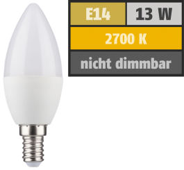 LED Kerzenlampe, E14, 5,5W, 470lm, 2700K, warmweiß, SWITCH DIM 100/55/15%