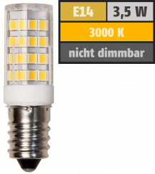 LED-Kolbenlampe McShine, E14, 3,5W, 300lm, 3000K, warmweiß