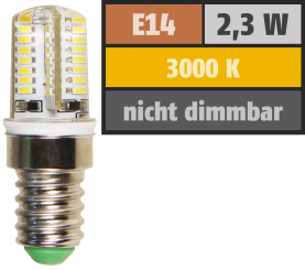"LED-Lampe McShine ""Silicia"", E14, 2,3W, 200 lm, warmweiß"