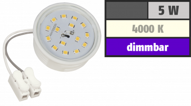 LED-Modul McShine, 5W, 400 Lumen, 230V, 50x23mm, neutralweiß, 4000K, dimmbar