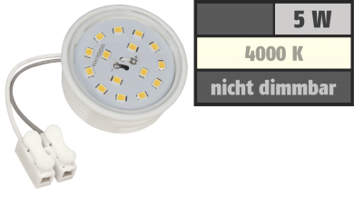 LED-Modul McShine, 5W, 400 Lumen, 230V, 50x23mm, neutralweiß, 4000K