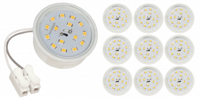 LED-Modul McShine, 5W, 400lm, 230V, 50x23mm, neutralweiß, 4000K, 10er-Pack
