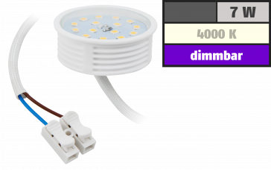 LED-Modul McShine, 7W, 470 Lumen, 230V, 50x23mm, neutralweiß, 4000K, dimmbar