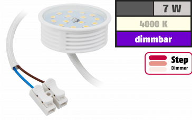 LED-Modul McShine, 7W, 470Lumen, 230V, 50x23mm, neutralweiß, 4000K, step-dimmbar