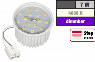 LED-Modul McShine, 7W, 510 Lumen, 230V, 50x33mm, neutralweiß, 4000K,step-dimmbar