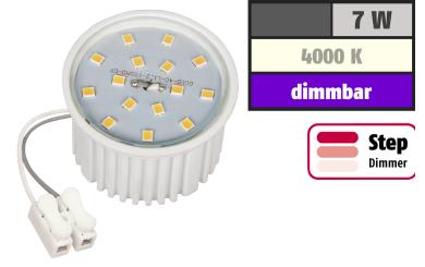 LED-Modul McShine, 7W, 650 Lumen, 230V, 50x33mm, neutralweiß, 4000K,step-dimmbar
