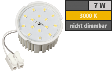 LED-Modul McShine, 7W, 510 Lumen, 230V, 50x33mm, warmweiß, 3000K