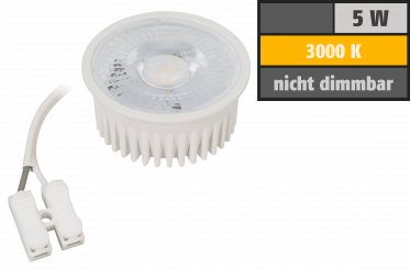 "LED-Modul McShine ""MCOB"" 5W, 400 Lumen, 230V, 50x25mm, warmweiß, 3000K"
