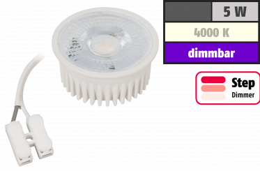 "LED-Modul McShine ""MCOB"" 5W, 400lm, 230V, 50x25mm, neutralweiß, step-dimmbar"