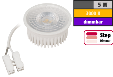 "LED-Modul McShine ""MCOB"" 5W, 400lm, 230V, 50x25mm, warmweiß, 3000K, step-dimmbar"