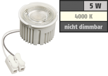 "LED-Modul McShine ""MCOB"" 5W, 400lm, 230V, 50x33mm, neutralweiß, 4000K"