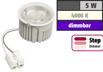 "LED-Modul McShine ""MCOB"" 5W, 400lm, 230V, 50x33mm, neutralweiß, 4000K, step-dimmbar"