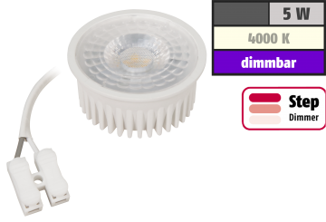 "LED-Modul McShine ""MCOB"" 5W, 400lm, 230V, 50x33mm, neutralweiß, step-dimmbar"