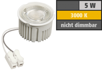 "LED-Modul McShine ""MCOB"" 5W, 400lm, 230V, 50x33mm, warmweiß, 3000K"