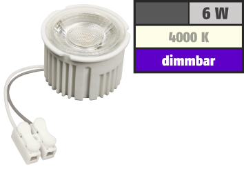 "LED-Modul McShine ""MCOB"" 6W, 400lm, 230V, 50x33mm, neutralweiß, 4000K, dimmbar"
